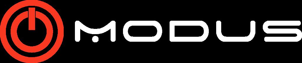 white modus logo