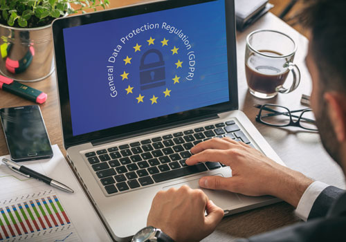 GDPR pulled up on a laptop